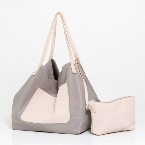 Taupe Karien Leather Hamdbag