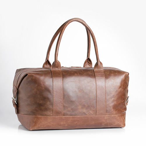 Tobacco Leather Overnighter