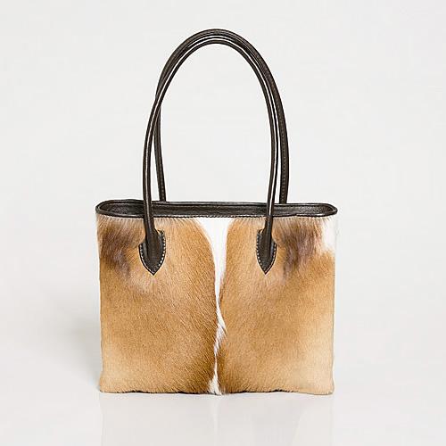 Deanne Natural Springbok Handbag