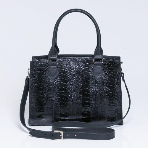 Gigi ostrich shin handbag