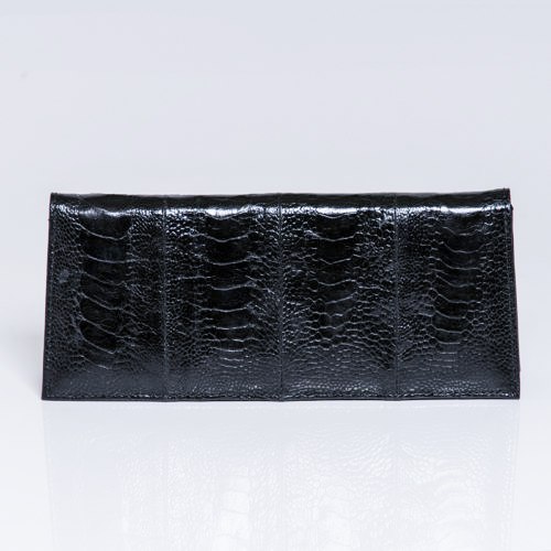 Long Clutch ostrich shin handbag