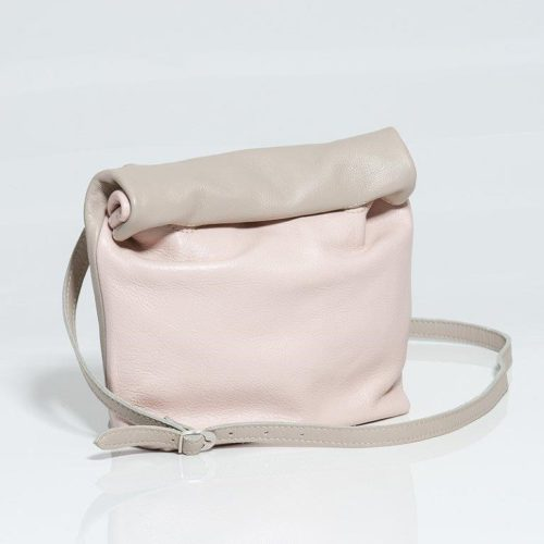 Large Rollover FSP leather Handbag