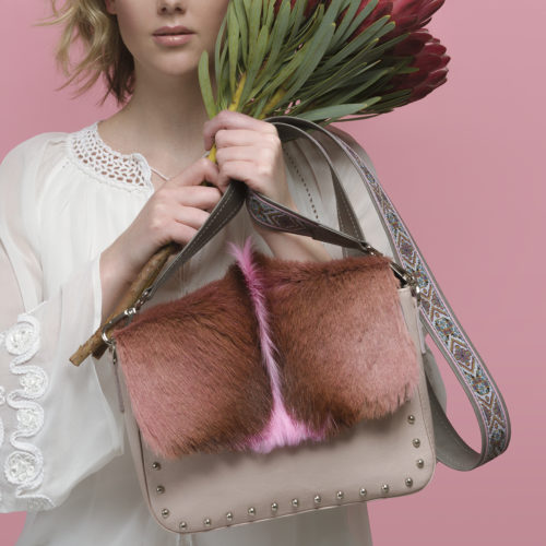 Roxy dyed Springbok Shoulder bag