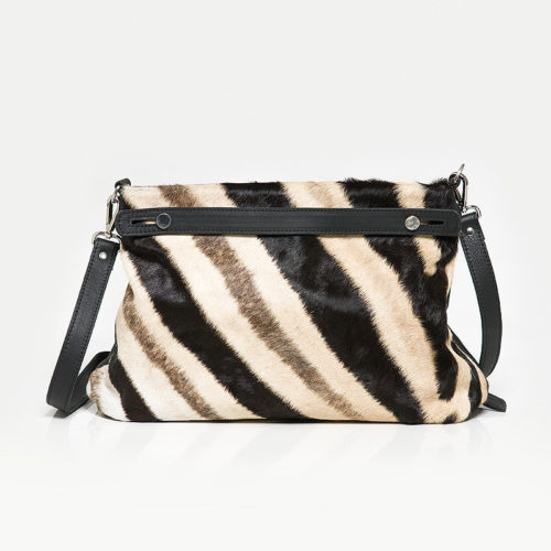 Skyla Genuine Zebra Handbag