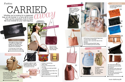 FSP Collection featured in Fair Lady October 2018 page 89
