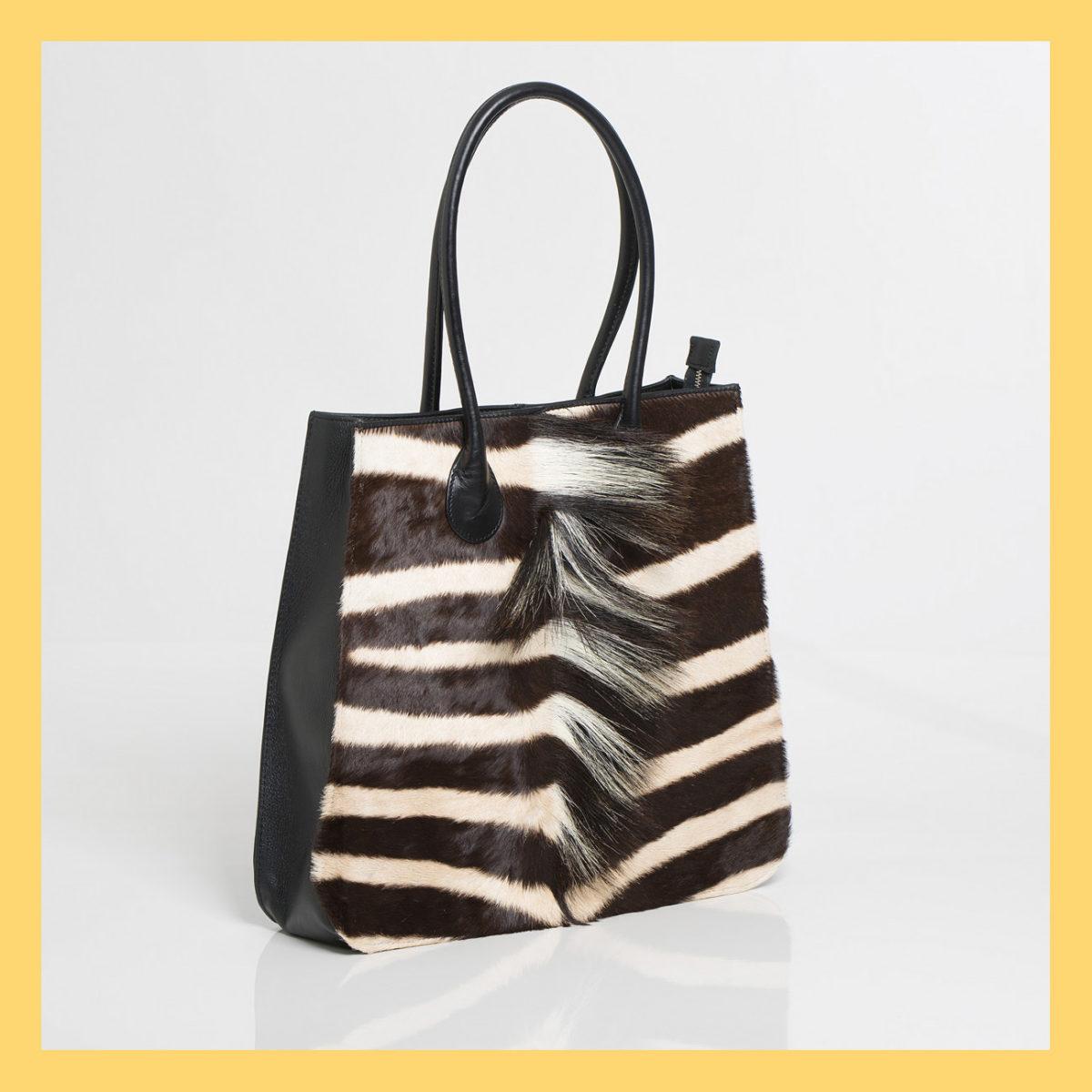 Shopper Zebra Handbag