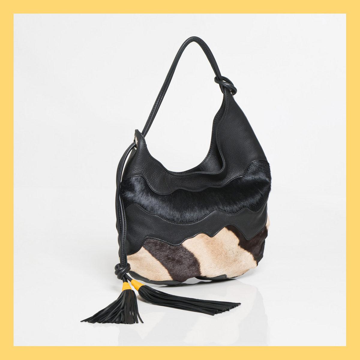 The Wave Zebra Handbag