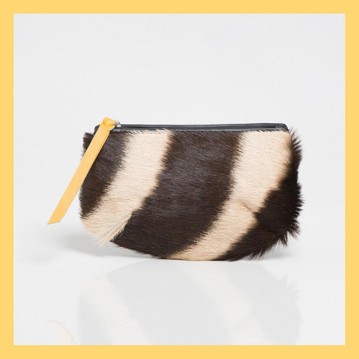 Zebra Round-pleat Purse
